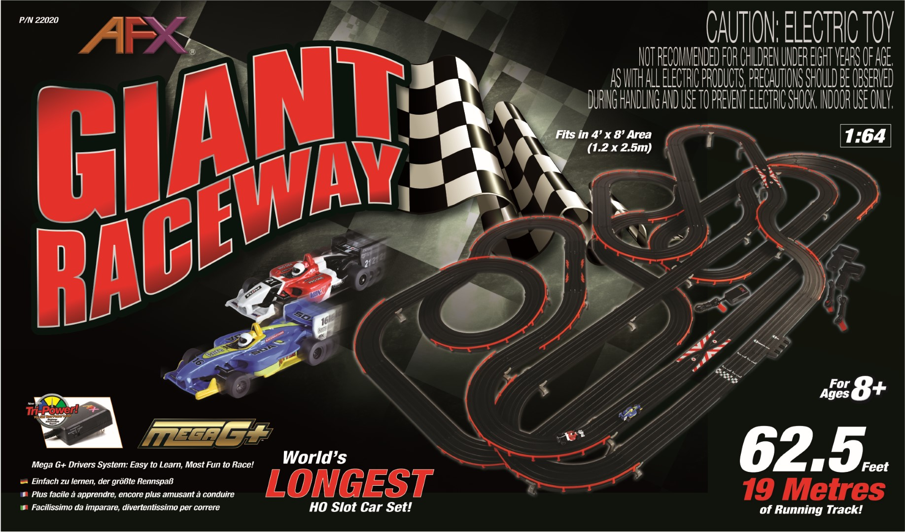Giant Raceway W O Digitallapcounter Afx Racing
